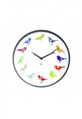 Horloge oiseaux des jardins, modèle ultraflat couleur