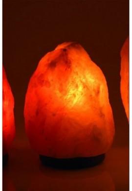 LAMPE CRISTAL DE SEL 3-4 kg avec socle en bois