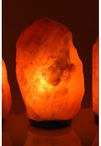 LAMPE CRISTAL DE SEL 4-7 kg avec socle en bois