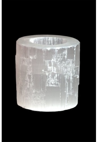 Bougeoir Cylindrique en Sélénite 0.5-0.7 KG