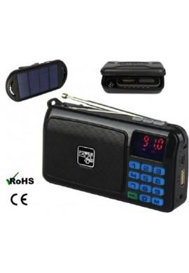 RADIO LAMPE TORCHE MP3 - PANNEAU SOLAIRE EXTERNE / CROW