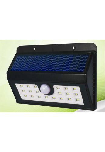 SPOT SOLAIRE 20 LED –DETECTEUR DE PRESENCE- ECLAIRAGE SECURITE / BOA