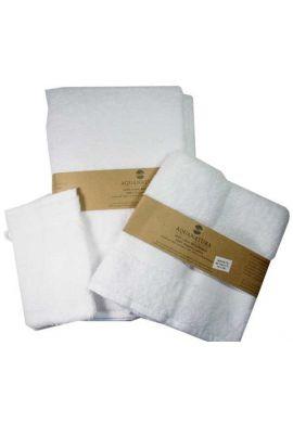 Serviette de toilette coton bio coloris blanc