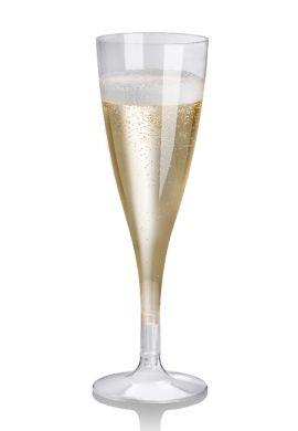 Flûtes à champagne biodégradabLe C-PLA, par 27