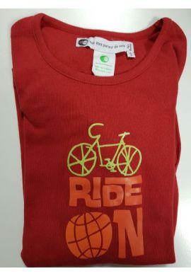 Tshirt coton bio FIDJI Ride on taille M