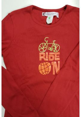 Tshirt coton bio FIDJI Ride on taille M