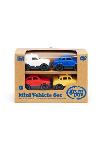 Lot de 4 voitures - Green Toys