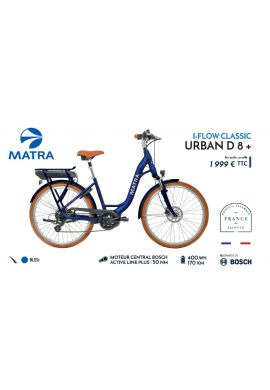 VELO A ASSISTANCE ELECTRIQUE MATRA I-FLOW CLASSIC URBAN D8 XS