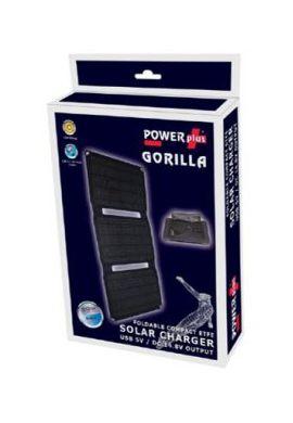 GORILLA / PANNEAU SOLAIRE 20 W - CHARGEUR USB 5V ET DC 14.8V