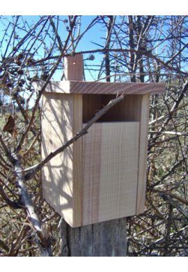 Nichoir semi-ouvert en bois