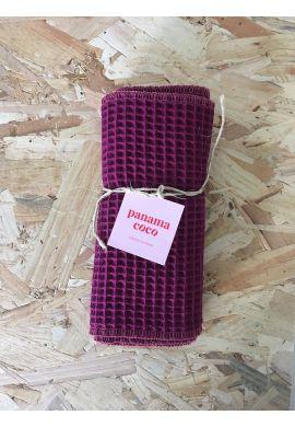 Essuie-tout lavable - 5 feuilles prune- Oeko Tex