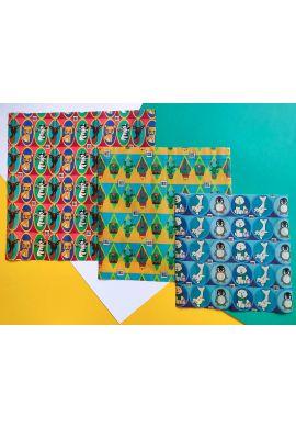 Emballage écologique réutilisable végétal - motifs enfants - Lot de 3