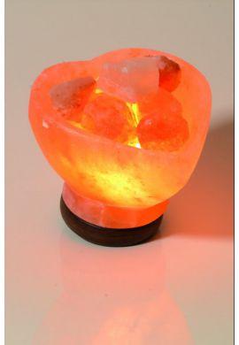 Lampe CRISTAL DE SEL en forme de COEUR (3 Kg)
