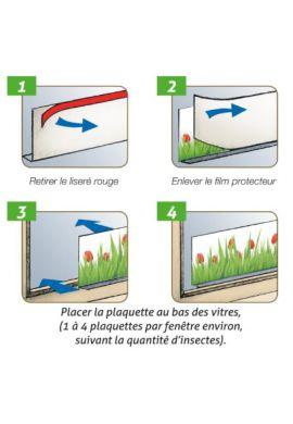 4 plaquettes anti-mouches décorées