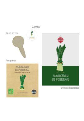 Mini kit de graines BIO de Marceau le poireau