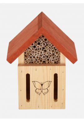 Hotel à insectes bénéfiques pollinisateurs modèle papillons