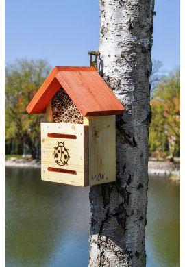 Hotel à insectes bénéfiques pollinisateurs modèle coccinnelles