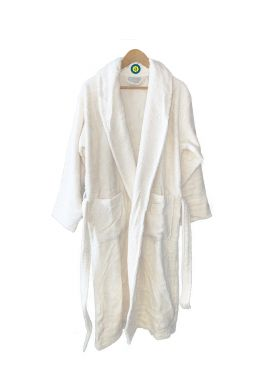 Peignoir en coton Bio, coloris blanc, Taille M