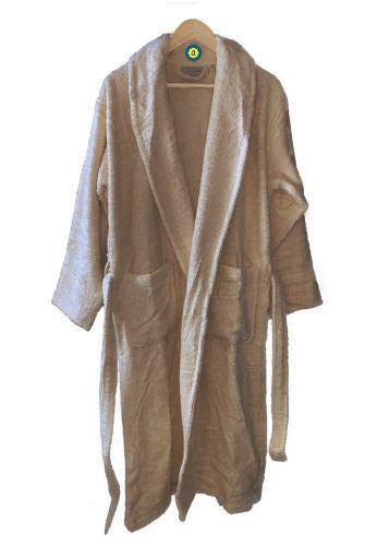Peignoir en coton Bio, coloris sable, Taille M