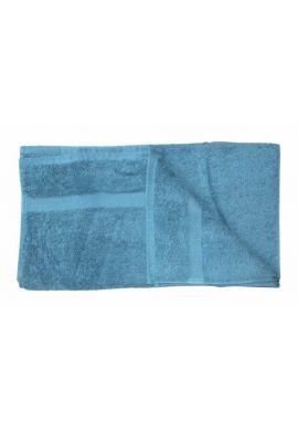 Serviette de toilette coton bio coloris Bleu canard