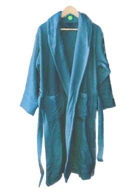 Peignoir en coton Bio, coloris Myrtille, Taille L