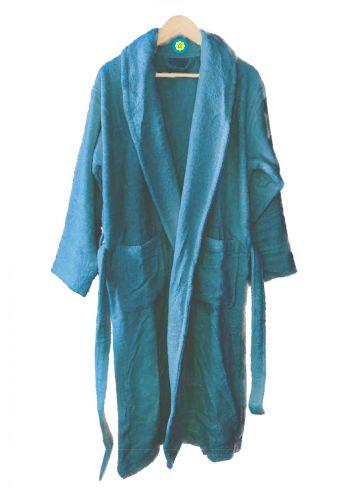 Peignoir en coton Bio, coloris Myrtille, Taille S