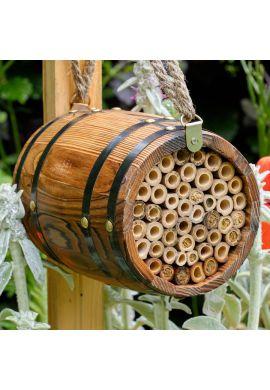 Abri pour abeilles pollinisatrices - Tonneau