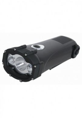 SHARK LAMPE TORCHE DYNAMO 3 LED ETANCHE CHARGEUR DE GSM