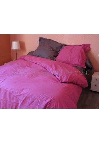 Drap de lit BIO lit 1 personne, 180 x 290 cm, coloris corail