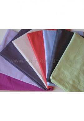 Taie d'oreiller BIO 40 x 60 cm, coloris corail