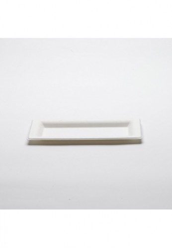 Lot de 50 assiettes canne à sucre  Carrées diam 13 x 26 cm