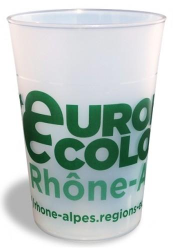 Pack de 200 éco-gobelets 30 cl, personnalisation 2 couleurs